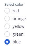 select color picklist