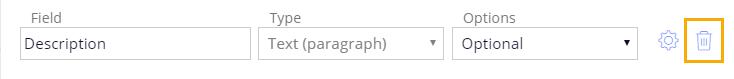 delete description field
