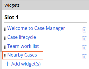 Click Nearby Cases to open configuration