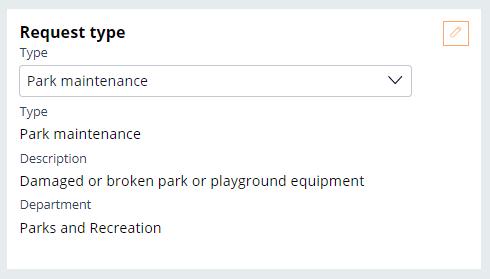 request type park maintenance selection