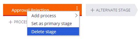 Delete an alternate stage