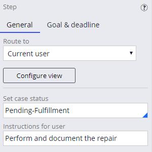Perform repair step status