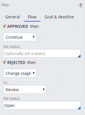 Flow tab for the Review repair Approve/Reject step