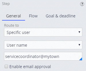 Routing an Approve/Reject step to a specific user