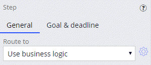 Routing an assignment using business logic