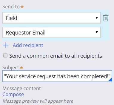 Send email dialog