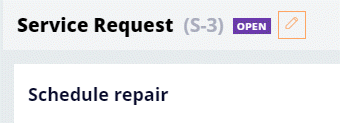 Service Request case has the status of Open when returned to the Review stage