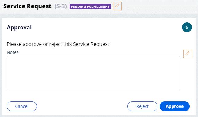 Review repair Approve/Reject step