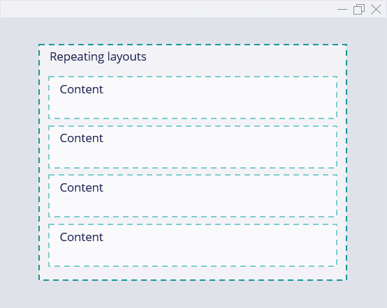 Image of a repeating layout