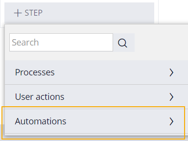 add step automations