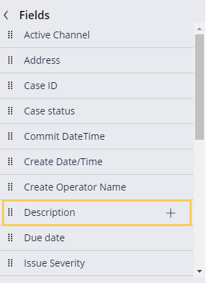 Adding an existing field, Description, to a view