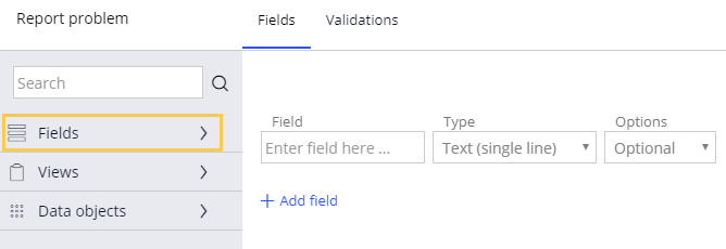 Adding existing fields to a view