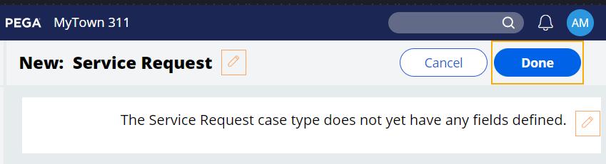 new service request case