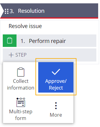resolve issue process approve reject step