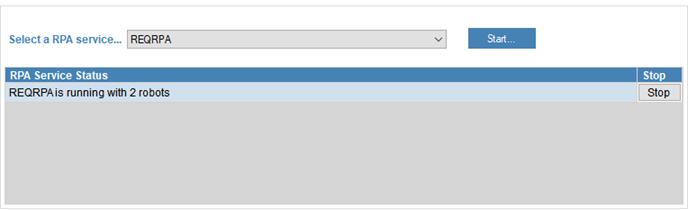 RPA Service status update