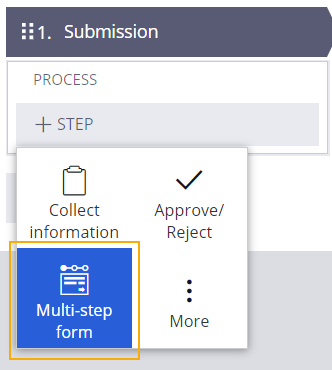 submission multi-step form