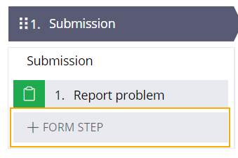 submission report problem form step