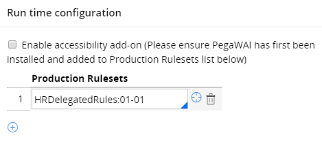 Add Production button