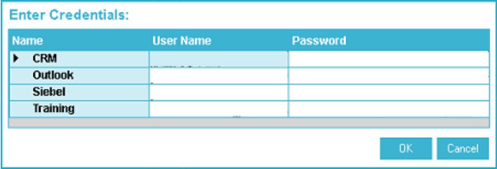enter credentials 1