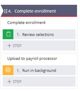 Enrollment stage