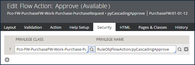 flow action with privilege