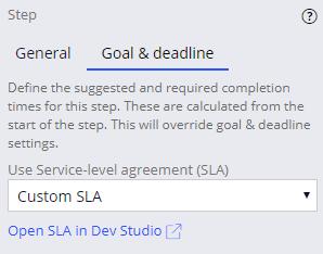 Open SLA in Dev Studio link that is available from App Studio