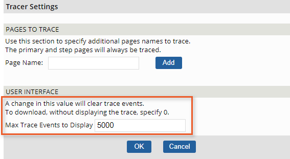 tracer-setting-number-of-events