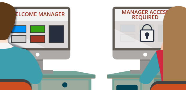 RBAC gives a manager access to an application