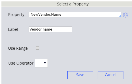 Select a condition for the condition heading in a decision table