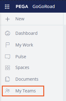 My teams widget from the Case Manager portal
