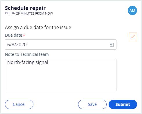 Assign a due date