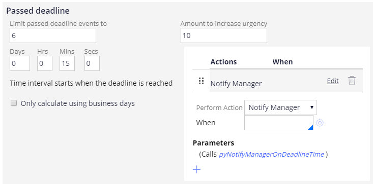 Passed deadline configured
