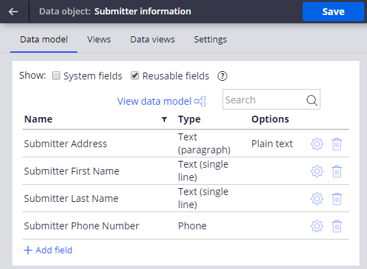Submitter information field group
