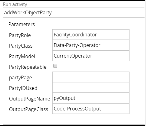 Add work object party