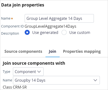 Data join properties group level