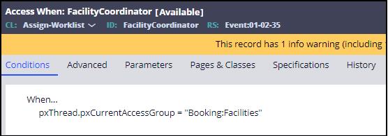 Facility coordinator