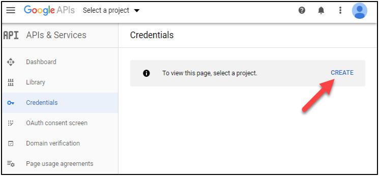 Create Google API
