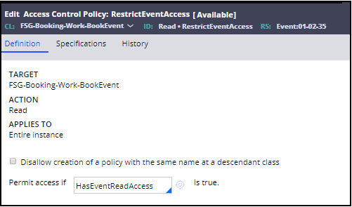 Restrict event access