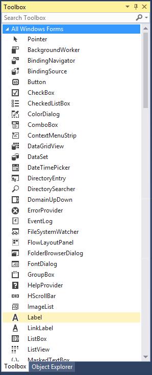 add label to windows form