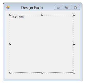 label on windows form