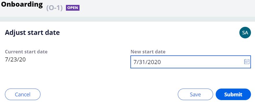 Image of Adjust Start Date
