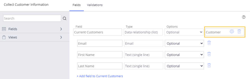 Multiple source data relationship example