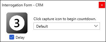 Screenshot showing the interrogation form delay