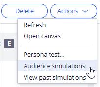 Audience simulation menu