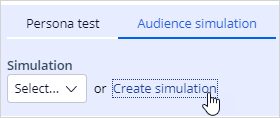 Create an audience simulation