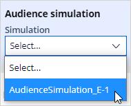 Select a simulation run