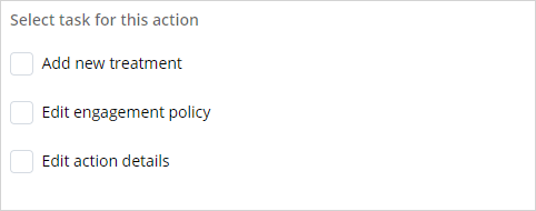 Select update action task
