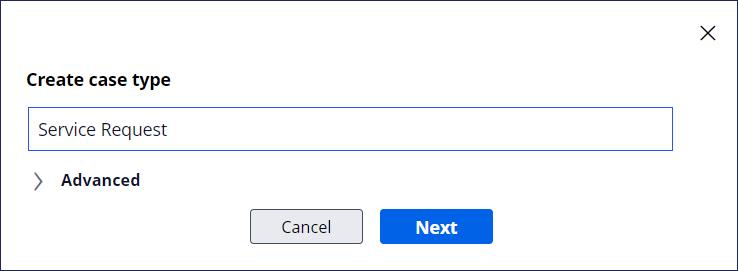 create case type window service request