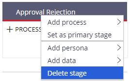 delete an alternative stage