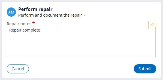 Perform repair view at runtime